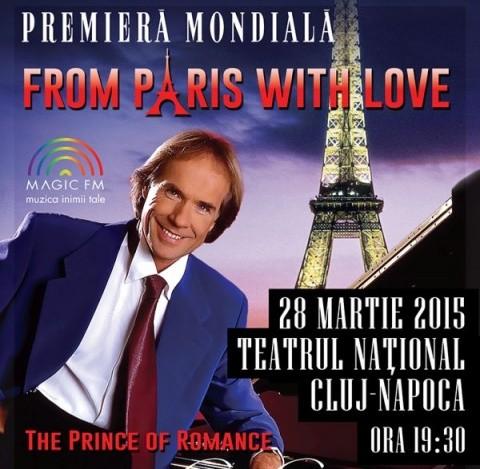 Richard Clayderman va concerta în Cluj-Napoca, pe 28 martie