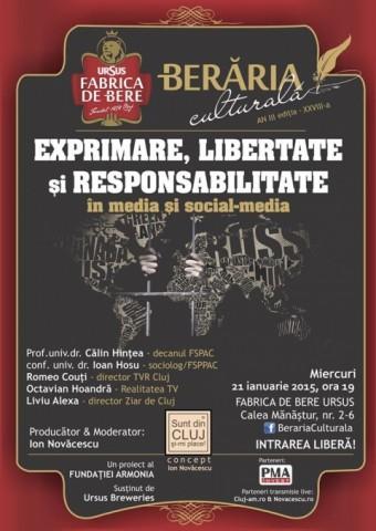 Dezbatere explozivă la Berăria Culturală despre limitele libertăţii de exprimare