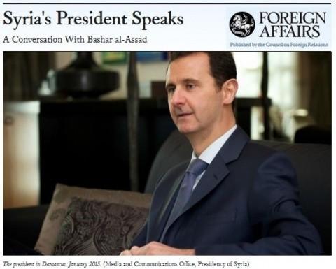 """INTERVIU. Preşedintele Siriei, Bashar Al-Assad, sub tirul Foreign Affairs, despre state-client şi oficiali-marionete: """"Să provoci războaie nu te face o mare putere"""""""