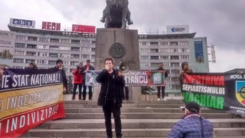 Prezent! Noua Dreaptă a făcut Apelul Tribunilor lui Avram Iancu în centrul Clujului (Video)