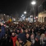 Protestul anti-Şova restricţionează circulaţia
