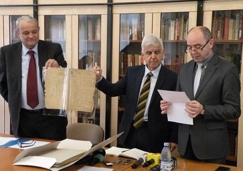 Testamentul olograf al lui Avram Iancu a fost donat clujenilor