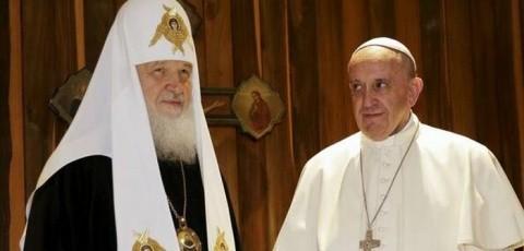 Papa Francisc și Patriarhul Bisericii Ortodoxe Ruse, Kirill – declarație comună pentru unitatea creștină și împotriva persecuției creștinilor în lume
