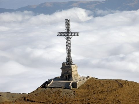 Ceremonie la finalizarea Crucii de pe Caraiman