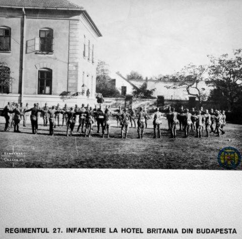 18-Reg-27-Infanterie-la-Hotel-Britania-1919-Armata-Romana-la-Budapesta-Foto-Roncea-Ro-Ziaristi-Online-Arhivele-Nationale
