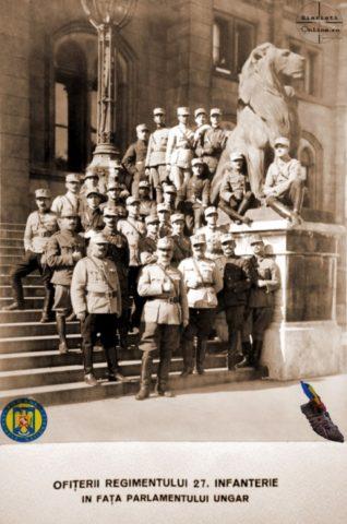 8-Ofiterii-Reg-27-Infanterie-la-Parlamentul-Ungariei-Armata-Romana-la-Budapesta-Foto-Roncea-Ro-Ziaristi-Online-Arhivele-Nationale