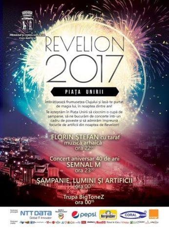 Primăria Cluj-Napoca vă invită la Revelion 2017 în Piața Unirii!