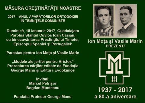Majadahonda 2017: 80 de ani de la jertfa lui Moța-Marin. Activități comemorative organizate cu binecuvântarea PS Timotei