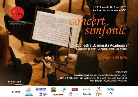 """Concert simfonic la Academia de Muzică ,,Gheorghe Dima"""". Se interpretează lucrarea de licență a celui mai bun student compozitor"""