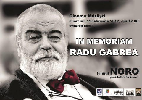In memoriam Radu Gabrea