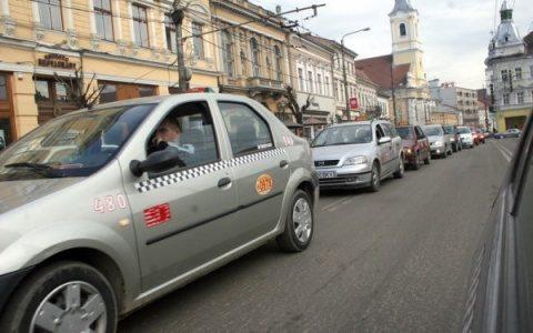 Taximetriștii clujeni au protestat împotriva Uber. Degeaba