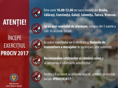 Sirenele vor suna joi, 20 aprilie, în judeţul Cluj. Simulări de urgență