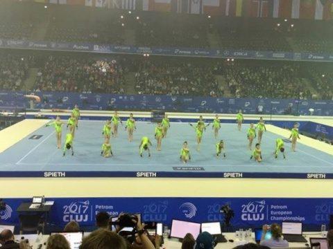 Show magic la deschiderea Campionatelor Europene de Gimnastică Cluj-Napoca. Orașul a devenit renumit pe plan mondial