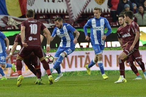 Oltenii au zdrobit șansele CFR Cluj la titlu