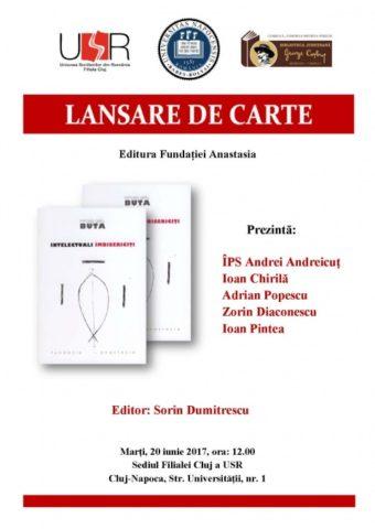 """Lansare de carte: """"Intelectuali îmbisericiți"""" la Uniunea Scriitorilor Cluj"""