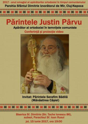 Eveniment în memoria Pr. Justin Pârvu la Biserica Sf. Dimitrie din Cluj-Napoca