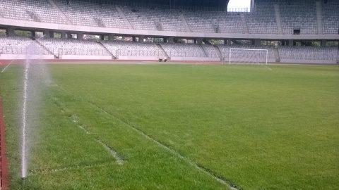 Gazonul de pe Cluj Arena se prezintă în condiții excelente pentru meciul cu Chile
