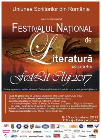 Cea de-a patra ediţie a Festivalului Naţional de Literatură, FestLit Cluj 2017