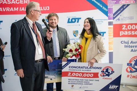 Aeroportul Internațional Cluj celebrează pasagerul cu numărul 2 milioane