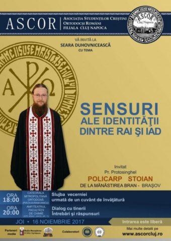 Prima seară duhovnicească la Cluj-Napoca – Pr. Protosinghel Policarp Stoian