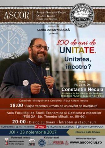 Pr. Constantin Necula la o seară duhovnicească A.S.C.O.R. Cluj