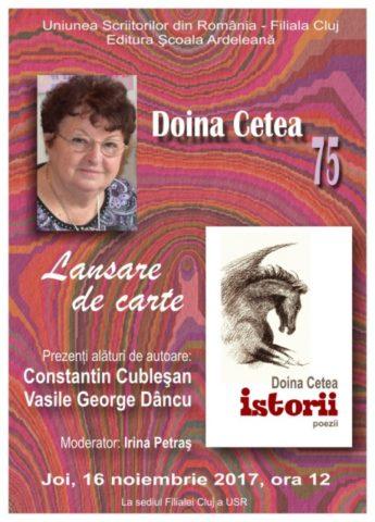 Lansare de carte: Doina Cetea cu noul volum de poezii