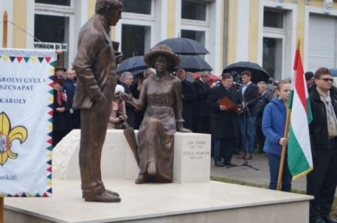 Scandal la Carei, la inaugurarea monumentului conviețuirii pașnice interetnice. Însemnele naționale românești au lipsit
