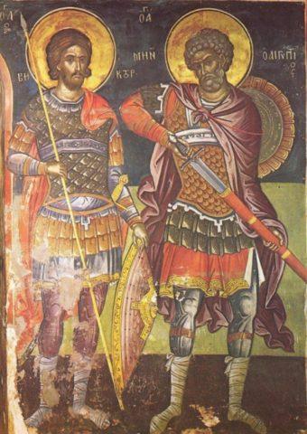 Sfântul Mare Mucenic Mina şi ostăşia românească