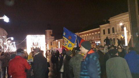"""Clujean apostrofat de """"liderii"""" protestatari pentru că scanda împotriva clasei politice corupte, nu doar împotriva PSD"""