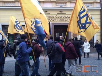 Naţionaliştii ucraineni au luat cu asalt Centrul Cultural Român din Cernăuţi. Violenţe împotriva românilor bucovineni!