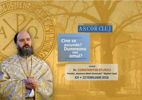 Seară duhovnicească organizată de A.S.C.O.R. Cluj cu Pr. Constantin Sturzu