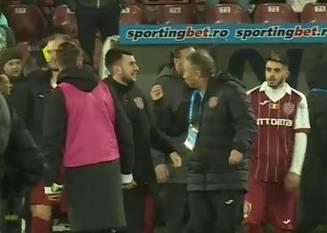 Dan Petrescu și-a împins unul dintre jucatori la finalul meciului cu CSM Poli Iasi
