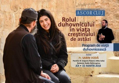 A patra seară duhovnicească A.S.C.O.R. Cluj – Pr. Sabin Vodă