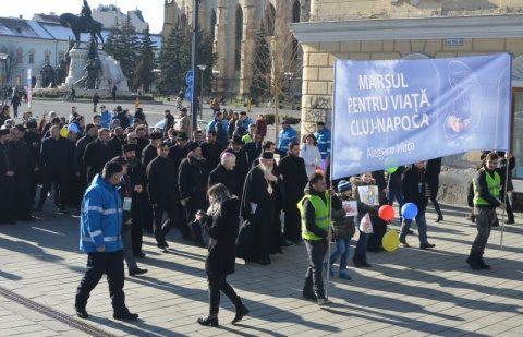 Mii de persoane au participat la Marșul pentru viață în Cluj-Napoca