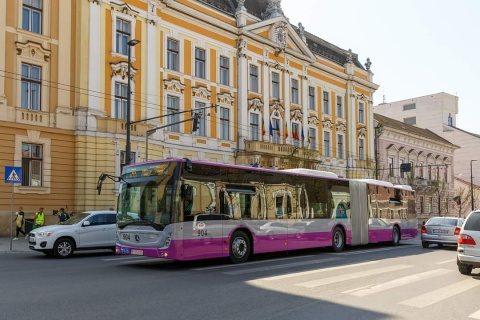 15 autobuze articulate noi, cu dotări de ultimă generație, sunt de azi în circulație la Cluj-Napoca! #Cluj