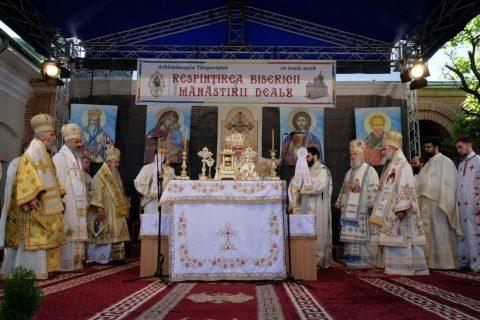 IPS Andrei, prezent la resfințirea Mănăstirii Dealu din Arhiepiscopia Târgoviștei