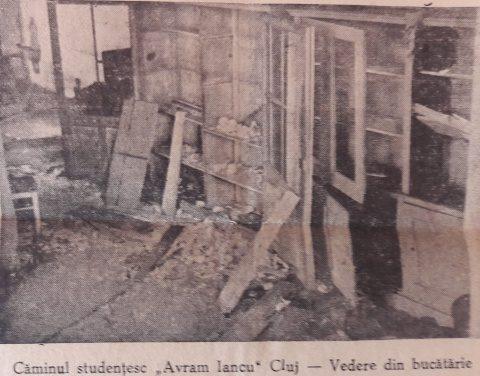 """Imagini de la devastarea de către comunişti a Căminului """"Avram Iancu"""" din Cluj: 28/29 mai 1946. Document Foto"""