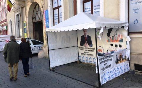 """Cortul PMP Cluj vandalizat de """"progresiști"""""""