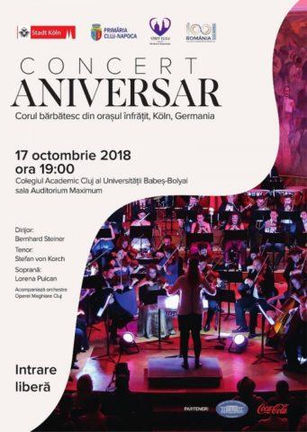 Concert aniversar la Cluj-Napoca – 175 de ani de la înființarea corului bărbătesc din orașul înfrățit Köln
