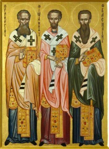 Sfinţii Trei Ierarhi: Vasile cel Mare, Grigorie Teologul şi Ioan Gură de Aur; Sf. Sfinţit Mc. Ipolit, episcopul Romei