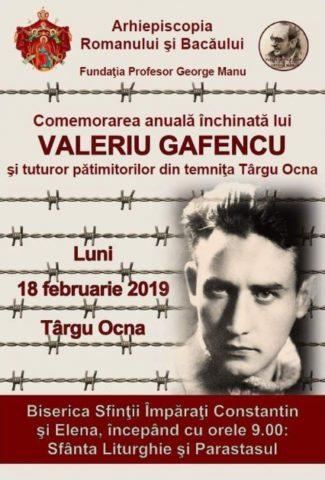 Dreptul la Memorie: Comemorarea anuală Valeriu Gafencu
