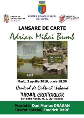 Lansare de carte: Poetul clujean Adrian Mihai Bumb
