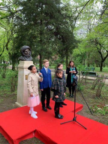 S-a dezvelit bustul primului cosmonaut A.Gagarin la București