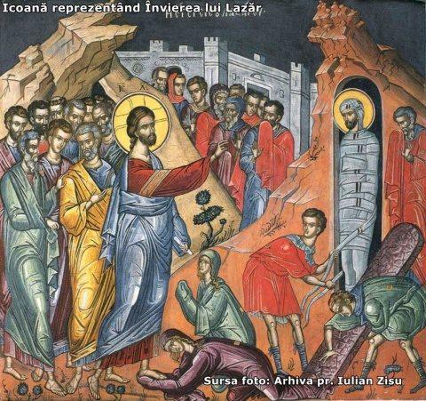 Sâmbăta lui Lazăr anunță Învierea Domnului