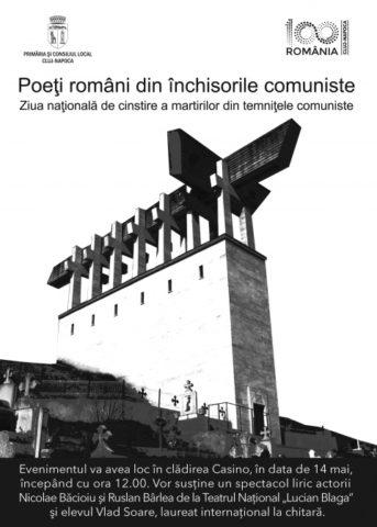 """Spectacol liric """"Poeţi români din temniţele comuniste"""" la Cluj-Napoca, cu ocazia Zilei Naționale de cinstire a martirilor din temniţele comuniste"""