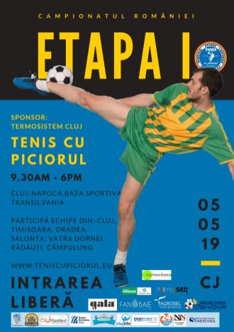Campionatul României la tenis cu piciorul, la Cluj-Napoca