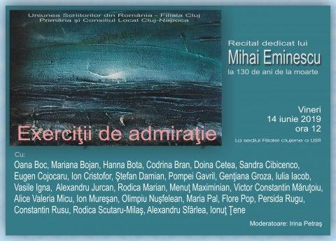 Cei mai valoroși poeți clujeni îl omagiază pe Mihai Eminescu: Exerciții de admirație