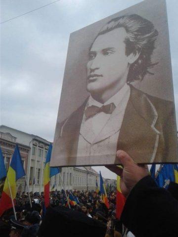 Eminescu a murit pe front