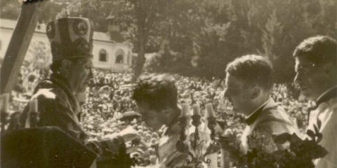 """Cântec original din 1947 la Sărbătoarea Adormirii Maicii Domnului de la Nicula: """"Azi, Măicuța ni se duce"""" (Arhivă)"""