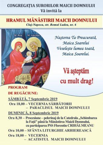 """Hramul Mănăstirii Congregaţiei Surorilor Maicii Domnului din Cluj-Napoca, """"prilej de bucurie și recunoștință adusă lui Dumnezeu"""""""